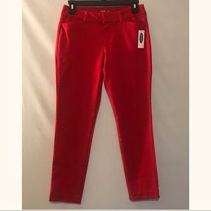 Old Navy Red Capri Pants Petite 2 NWT